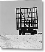 Farm Wagon Metal Print