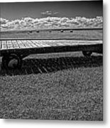 Farm Wagon In A Field On Prince Edward Island Metal Print