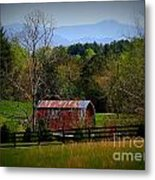 Farm With A View Metal Print by Crystal Joy Photography