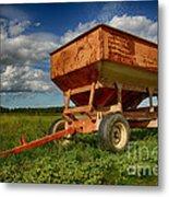 Farmer's Grain Wagon Metal Print