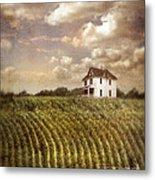 Farmhouse And Cornfield Metal Print