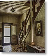 Farmhouse Entry Hall And Stairs Metal Print by Lynn Palmer