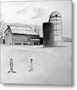 Farmhouse Metal Print by Michael Ringwalt