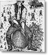 Farming: Corn Husker Metal Print