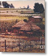 Farming In The Rift Valley Metal Print