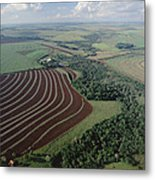 Farming Region With Forest Remnants Metal Print