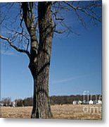 Farmland Versus Development Metal Print by Karen Lee Ensley