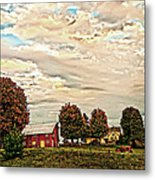 Farms From The Fifties Metal Print