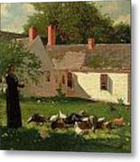 Farmyard Scene Metal Print by Winslow Homer