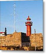 Farol Do Forte Sta. Catarina Metal Print