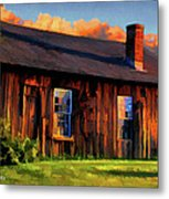 Farrier's Shed Metal Print