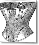 Fashion: Corset, 1869 Metal Print