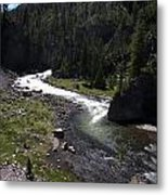 Fast Rapids On Firehole River Yellowstone  Metal Print