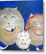 Fat Cat Family Metal Print
