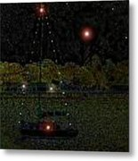 Fat Moon Bay Metal Print