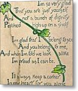 Fathers Day Card, 1912 Metal Print