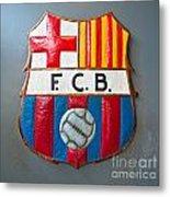 Fc Barcelona Symbol Metal Print