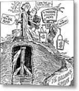 F.d.r. Cartoon, 1930s Metal Print