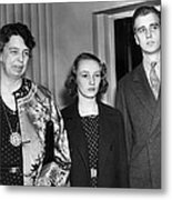 Fdr Presidency. From Left First Lady Metal Print