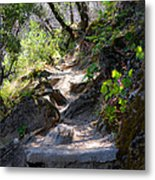 Feather Falls Stairway Metal Print