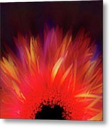 Feathered Floral Metal Print