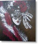 Feathered Rose Metal Print