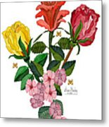 February 2012 Roses And Blooms Metal Print