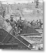 Federal Siege Guns Yorktown Virginia During The American Civil War Metal Print