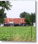 Feeding Barn Metal Print