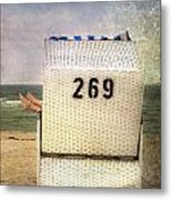 Feet And Beach Chair Metal Print by Joana Kruse