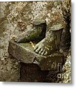 Cambodia Carved Feet Metal Print