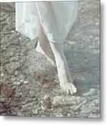 Feet In Water Metal Print