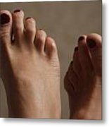 Feet Of A Happy Woman After Coupling Metal Print