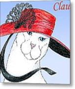 Feline Finery - Claudia Metal Print