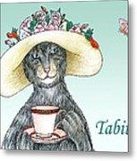 Feline Finery - Tabitha Metal Print