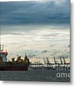 Felixstowe Docks Metal Print