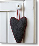 Felt Heart Shape Decoration Hanging On Handle Metal Print