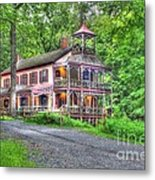Feltville Historic District Store And Church  Metal Print