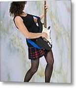 Female Guitarist Metal Print