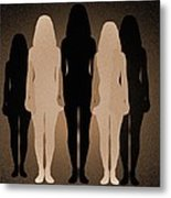Female Identity, Conceptual Image Metal Print