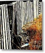 Fence Abstract Metal Print by Joe Jake Pratt