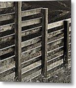 Fence Close Up Metal Print