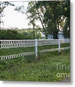 Fence Or Shoes Metal Print