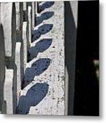 Fence Shadows Metal Print