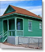 Fenced Yard Metal Print