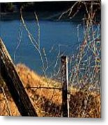 Fenceposts Metal Print