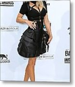 Fergie Wearing A Herve Leger By Max Metal Print