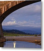 Fernbridge And The Moon Metal Print