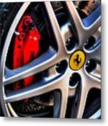 Ferrari Shoes Metal Print