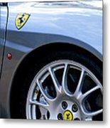 Ferrari Wheel And Emblems Metal Print
